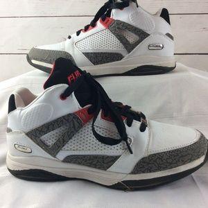88c4714c034245 FUBU Shoes - Fubu Mens High Top Basketball Shoes White Gray
